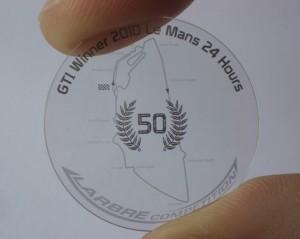Fond de boitier - GTI - Le mans - winner 2010
